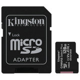 Карта памяти microSDXC 128 GB KINGSTON Canvas Select Plus UHS-I U1,100 Мб/с (class 10), адаптер, SDCS2/128 GB, SDCS/128GB