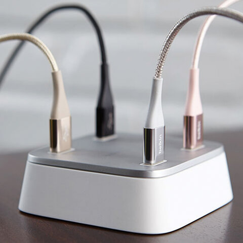 Кабель Type-C-USB 2.0 1,2 м BELKIN, для подключения портативных устройств и периферии, F2CU059bt04-BLK