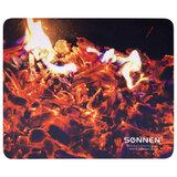 """Коврик для мыши SONNEN """"FIRE"""", резина + ткань, 220х180х3 мм, 513292"""