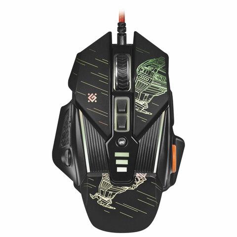 Мышь проводная игровая DEFENDER sTarx GM-390L, USB, 7 кнопок+1 колесо-кнопка, оптическая, черная, 52390