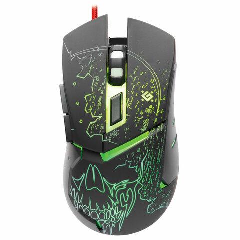 Мышь проводная игровая DEFENDER Alfa GM-703L, USB, 6 кнопок+1 колесо-кнопка, оптическая, черная, 52703