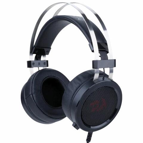 Наушники с микрофоном (гарнитура) REDRAGON Scylla, проводные, 2 м, полноразмерные с оголовьем, черные, 75064