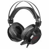 Наушники с микрофоном (гарнитура) REDRAGON Siren 2, проводные, 2 м, полноразмерные с оголовьем, черные, 74830