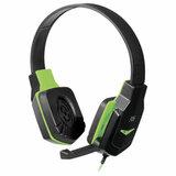 Наушники с микрофоном (гарнитура) DEFENDER Warhead G-320, проводные,1,8 м, с оголовьем, черные с зеленым, 64032