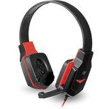 Наушники с микрофоном (гарнитура) DEFENDER Warhead G-320, проводные, 1,8 м, с оголовьем, черные с красным, 64033