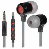 Наушники с микрофоном (гарнитура) вкладыши DEFENDER Pike, проводные, 1,2 м, вкладыши, черные с красным, 64452