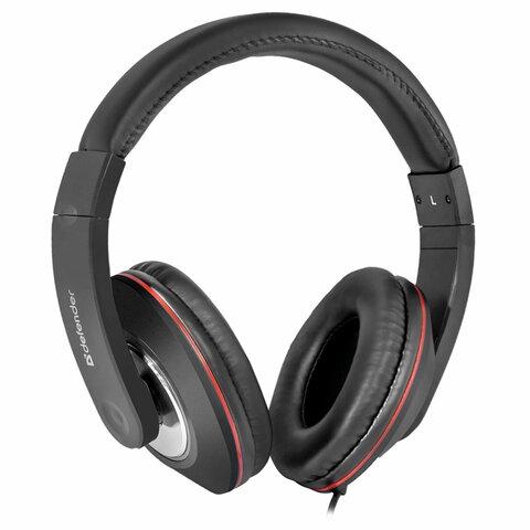 Наушники с микрофоном (гарнитура) DEFENDER Accord 171, проводные, 1,2 м, полноразмерные с оголовьем, черные, 63171