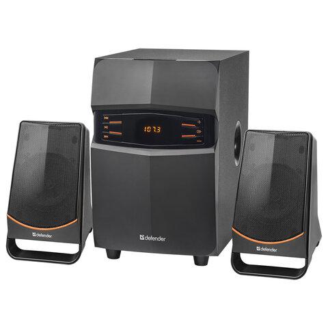Колонки компьютерные DEFENDER X181, 2.1, 18Вт, Bluetooth, FM-тюнер, пластик, черные, 65181