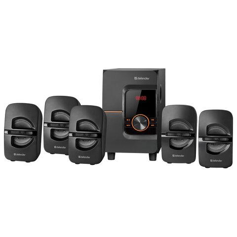 Колонки компьютерные DEFENDER Cinema 52, 5.1, 52Вт, Bluetooth, FM-тюнер, пластик, черные, 65152