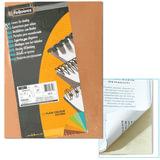 Обложки картонные для переплета А4, КОМПЛЕКТ 100 шт., тиснение под кожу, 250 г/м<sup>2</sup>, слоновая кость, FELLOWES, FS-53700