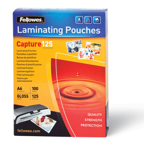 Пленки-заготовки для ламинирования FELLOWES, комплект 100 шт., 111х154 мм, 125 мкм, FS-53072