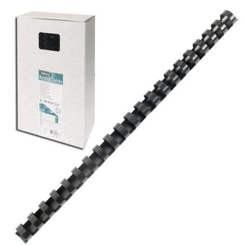 Пружины пластиковые для переплета FELLOWES, комплект 100 шт., 10 мм, для сшивания 41-55 л., черные, FS-53461