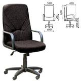 """Кресло офисное """"Менеджер"""", ткань, монолитный каркас, черное С-11, В-14"""