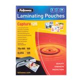 Пленки-заготовки для ламинирования FELLOWES, комплект 100 шт., 75х105 мм, 125 мкм, FS-53069
