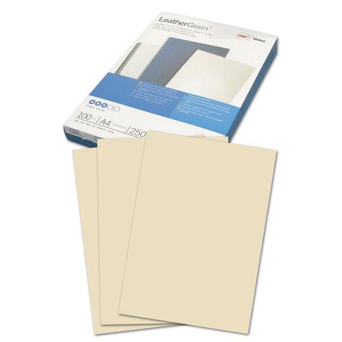 Обложки д/переплета GBC (ДжиБиСи), КОМПЛЕКТ 100шт, LeatherGrain (тисн.под кожу) A4,карт, сл.костCE040065