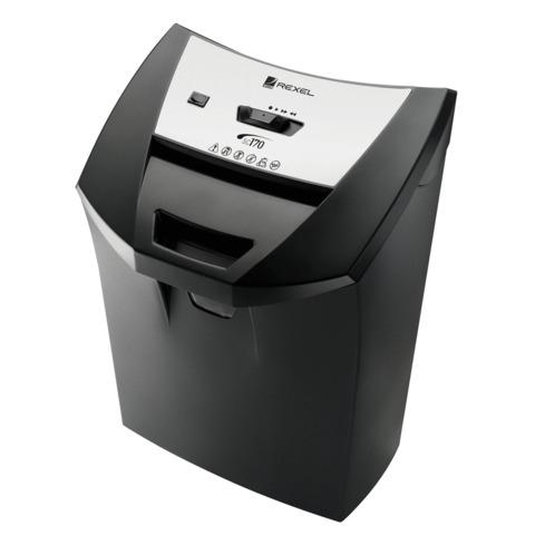 Уничтожитель (шредер) REXEL DELUXE SC170, для 1 человека, 2 уровень секретности, 6 мм, 12 листов, 22 л, скобы, карты, 2101829