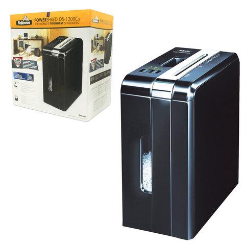 Уничтожитель (шредер) FELLOWES DS-1200Cs, для 1 человека, 3 уровень секретности, 4x50 мм, 12 листов, 15 л, скобы, скрепки, карты, FS-3409201