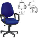 """Кресло """"Comfort GTP"""", с подлокотниками, синее"""