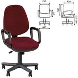 """Кресло """"Comfort GTP"""", с подлокотниками, бордовое"""
