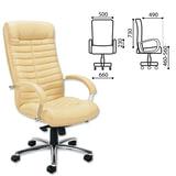 """Кресло офисное """"Orion steel chrome"""", кожа, хром, бежевое"""
