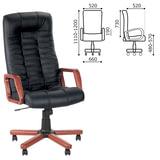 """Кресло офисное """"Atlant extra"""", кожа, дерево, черное"""
