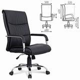 """Кресло офисное BRABIX """"Space EX-508"""", экокожа, хром, черное, 530860"""