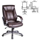 """Кресло офисное BRABIX """"Maestro EX-506"""", экокожа, коричневое, 530878"""