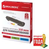 Пленки-заготовки для ламинирования BRAUBERG, комплект 100 шт., для формата А4, 250 мкм, 530897