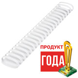 Пружины пластиковые для переплета, КОМПЛЕКТ 50 шт., 51 мм (для сшивания 411-450 л.), белые, BRAUBERG, 530935