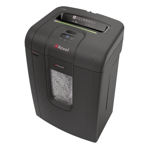 Уничтожитель (шредер) REXEL RSX1834 (США), для 1-3 человек, 4 уровень секретности, фрагм. 4x40 мм, 18 лист., 34 л, скобы, скрепки, 2105018EU