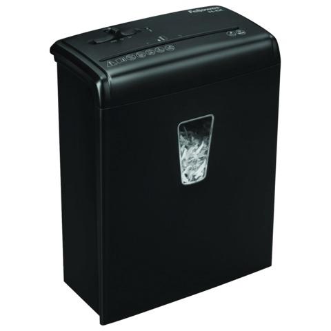 Уничтожитель (шредер) FELLOWES H-6C, для 1 человека, 4 уровень секретности, 4х35 мм, 6 листов, 11 л, скобы, скрепки, карты, FS-4682201
