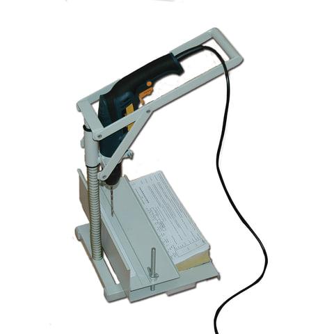 Станок для архивного переплета вертикальный УПД Д (с дрелью), с лотком, сшивка до 100 мм (950 л.)