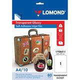 Пленка LOMOND для струйных принтеров, самоклеящаяся, прозрачная, 100 мкм, А4, 10 шт., 1708411