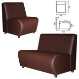 """Кресло мягкое """"Клауд"""", """"V-600"""", 550х750х780 мм, без подлокотников, экокожа, коричневое"""