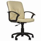 """Кресло """"Чип"""", с подлокотниками, кожзам, бежевое"""