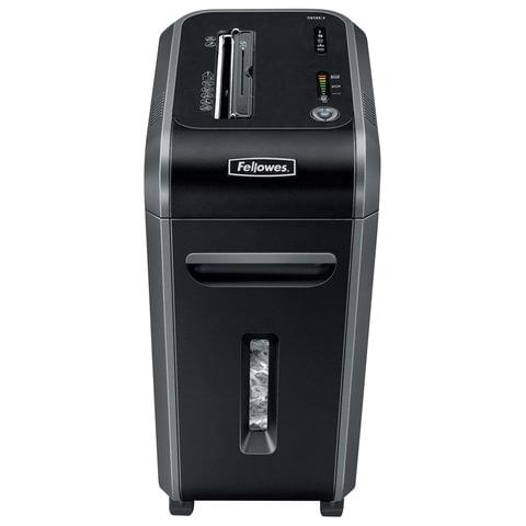 Уничтожитель (шредер) FELLOWES 90S, для 3-5 человек, 2 уровень секретности, 5,8 мм, 18 листов, 34 л, скобы, скрепки, CD, FS-46901