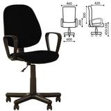 """Кресло """"Forex GTP"""", с подлокотниками, черное"""