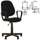 """Кресло """"Forex GTP"""", с подлокотниками, черно-серое"""