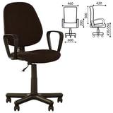 """Кресло """"Forex GTP"""", с подлокотниками, коричневое"""