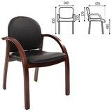 Кресло для приемных и переговорных CH-659, экокожа, черное матовое, 6066646
