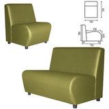 "Кресло мягкое ""Клауд"", ""V-600"", 550х750х780 мм, без подлокотников, экокожа, светло-зеленое"