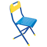 Стул детский ДЭМИ складной, 330х327х540 мм, синий/желтый, рост 2 (115-130 см), ССД.02,
