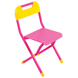 Стул детский ДЭМИ складной, 334х362х590 мм, розовый/желтый, рост 3 (130-145 см), ССД.03