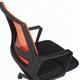 """Кресло BRABIX """" Balance MG-320"""", с подлокотниками, комбинированное черное/оранжевое, 531832"""