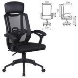 """Кресло офисное BRABIX """"Nexus ER-401"""", подголовник, черное, 531835"""