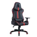 """Кресло компьютерное BRABIX """"GT Carbon GM-120"""", две подушки, экокожа, черное/красное, 531931"""