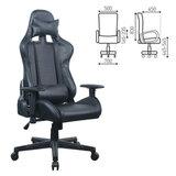 """Кресло компьютерное BRABIX """"GT Carbon GM-115"""", две подушки, экокожа, черное, 531932"""