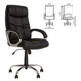 """Кресло офисное """"Matrix"""", экокожа, хромированное пятилучие, черное"""