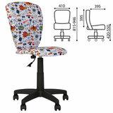 """Кресло детское """"POLLY GTS"""" без подлокотников, серое с рисунком"""