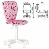 "Кресло детское ""POLLY GTS white"" без подлокотников, розовое с рисунком"